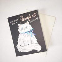 Purrrfect Birthday Greeting Card