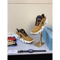 prada men fashion boots fashionable casual leather breathable sneakers running shoes 114