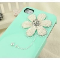 Nova Case® 3D Crystal iPhone Case for AT&T Verizon Sprint Apple iPhone 4/4S Sunflower Baby Green
