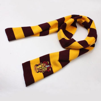 Harry Potter Gryffindor House LOGO Knit Wool Scarf Wrap Cosplay Costume = 1958288004