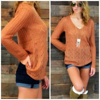 Lookout Mountain Toffee Knit Sweater