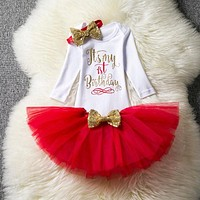 Baby Girl First Birthday Party Dress Winter Autumn Baby Clothing Toddler Girls Clothes Baby Infant Long Sleeve Soft Outfits