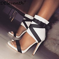 Bella Gladiator Peep Toe High Heels