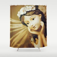 Daydreamer - Vintage Angel Shower Curtain by Legends Of Darkness Photography