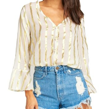Gold Stripe Mercer Tunic Top