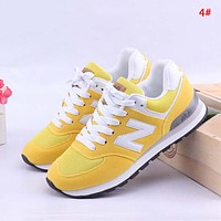 New Balance Fashion New Mesh Women Men Sports Leisure Contrast Color Shoes 4#