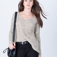 Casual Chunky Knit Sweater