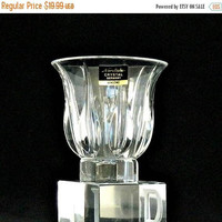 ON SALE Noritake Votive Candle Holder, Vendome Holiday Votive, Vintage Noritake Crystal Votive, Made in Germany, Never Used in Original Box.