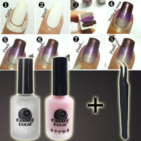 15ml Peel Off Liquid Nail Art Tape Latex + Tweezer