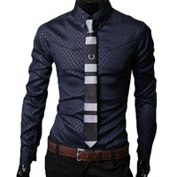 The Alexander Tailored Fit Shirt Navy