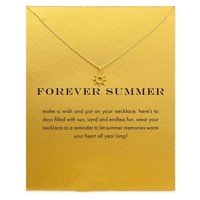 Sun Necklace with Inspirational Message Card