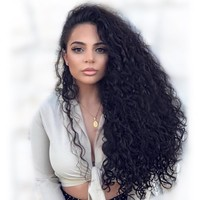 Cool Lace Front Human Hair Wigs With Pre Plucked Bleached Knots Curly Wig Brazilian 13*4 Lace Front Wig Remy For Women Natural BlackAT_93_12