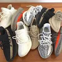ADIDAS 350 Yeezy V2 Boots hot sale reflective men and women sneakers Shoes-6