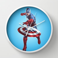 CAPTAIN AMERICA Wall Clock by Hands In The Sky