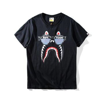 Bape Tide brand funny printing trend casual loose comfortable short T-shirt F-A-KSFZ black