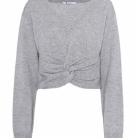 Wool and cashmere cropped sweater