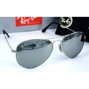 Ray-Ban RB3025 58mm Silver Mirror Aviator Sunglasses