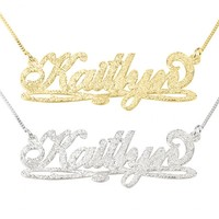 Carrie Sparkling Name Necklace