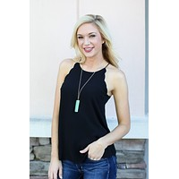 Scallop Tank - Black