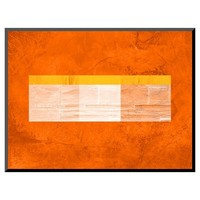 Art.com Orange Paper 3 - Mounted Print