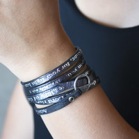 Bible Verse Wrapped Leather Bracelets   Isaiah 60:1