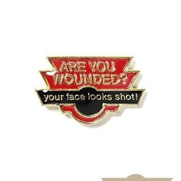 Are You Wounded? Vintage Pin