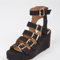 Flatform Buckled Gladiator Sandals