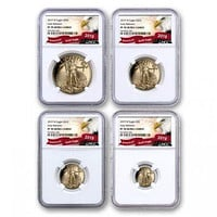 2019-W 4-Coin Proof Gold American Eagle PF-70 NGC Set (Early Releases)
