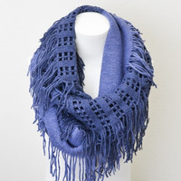 Just Let Loose Knit Infinitiy Scarf