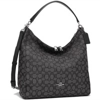 NEW Authentic Coach F58327 Celeste NS Convertible CrossBody Bag Handbag Black Smoke/Bl