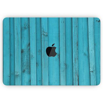 """Signature Blue Wood Planks - Skin Decal Wrap Kit Compatible with the Apple MacBook Pro, Pro with Touch Bar or Air (11"""", 12"""", 13"""", 15"""" & 16"""" - All Versions Available)"""