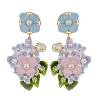 Dolce & Gabbana Hydrangea Clip-On Earrings | Harrods.com