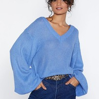 When the Knit Hits the Pan Oversized Sweater