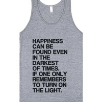 Happiness Can Be Found (Tank)-Unisex Athletic Grey Tank