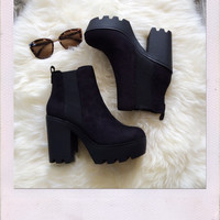 Restful Faux Suede Booties
