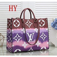 Louis Vuitton LV Fashion Ladies Print Trendy Shopping Bag Leather Handbag Tote Shoulder Bag