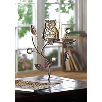 Owl Candle Stand