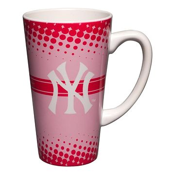 New York Yankees - Logo 16 oz Pink Latte Mug