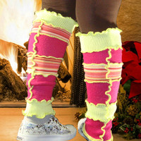 Leg Warmers, Upcycled Sweaters, Leggings, Gift for Her