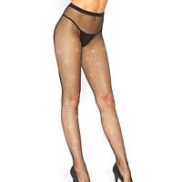Mini Rhinestone Fishnet Rave Tights