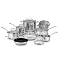 Cuisinart® Chef's Classic™ Stainless Steel 14-Piece Cookware Set