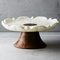 Marble Garden Cake Stand by Anthropologie in Neutral Size: Cake Stand Kitchen