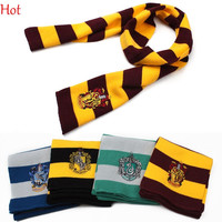 Top Hot Harry Potter Scarf Scarves Knit Gryffindor Hufflepuff Cosplay Scarf Wrap Striped Magic School Costume Gift Mufflers Scarves 19576