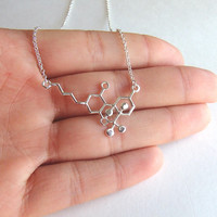 THC Molecule Necklace, Use This Nerdy Necklace Jewelry Piece to Celebrate the Weed Freedom!