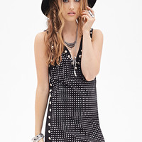 FOREVER 21 Studded Shift Dress Black/Silver