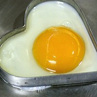 BONAMART ® Heart shaped Omelette Pan Pancake Love Fried Eggs Ring Circle Mold with Handle