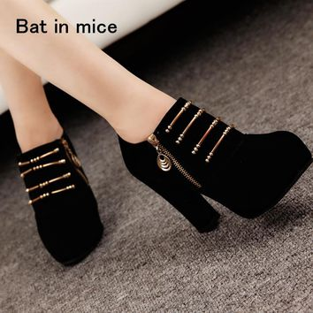 2018 new 10.5cm high heels women pumps casual women shoes high heel ankle boots women boots summer shoes women pumps botas A067