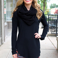 The Perfect Long-Sleeved Tunic - Black