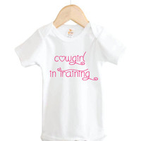 Cowgirl in Training Onesuit // country Onesuits // cowgirl Onesuits // baby clothing.