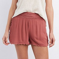 CROCHET-TRIM SHORTS